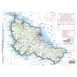 Carte de Belle Ile en Mer -...